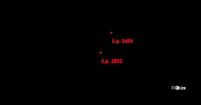 Východní Předměstí 2802, Plzeň na parcele st. 2437/114 v KÚ Plzeň 4, Katastrální mapa