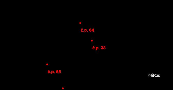 Červená Lhota 38, Bílá Lhota na parcele st. 11/2 v KÚ Červená Lhota u Řimic, Katastrální mapa