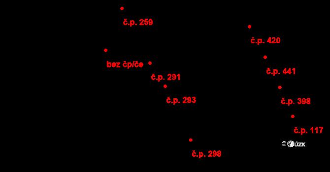 Chválkovice 293, Olomouc na parcele st. 331 v KÚ Chválkovice, Katastrální mapa