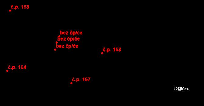 Studánka 158 na parcele st. 210 v KÚ Studánka u Tachova, Katastrální mapa