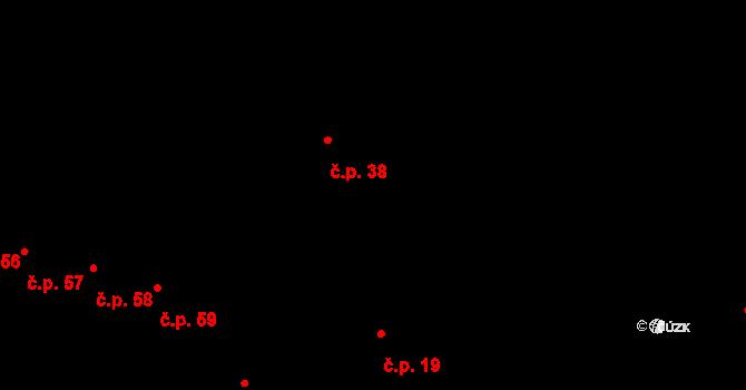 Velká Lhota 38, Volfířov na parcele st. 29 v KÚ Velká Lhota u Dačic, Katastrální mapa