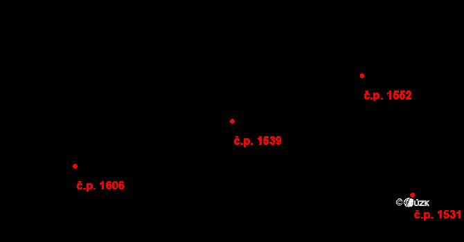 Švermov 1539, Kladno na parcele st. 1842/19 v KÚ Motyčín, Katastrální mapa