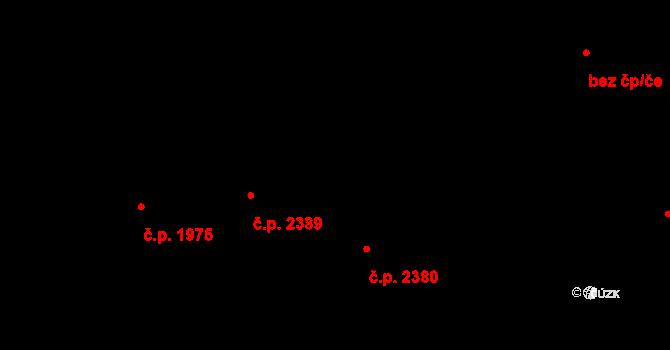 Místek 2380, Frýdek-Místek na parcele st. 1699/4 v KÚ Místek, Katastrální mapa
