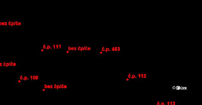 Polešovice 453 na parcele st. 179 v KÚ Polešovice, Katastrální mapa