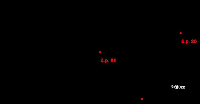 Stránka 61 na parcele st. 78/1 v KÚ Stránka u Mšena, Katastrální mapa