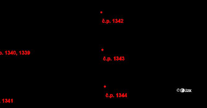 Chodov 1343, Praha na parcele st. 2376 v KÚ Chodov, Katastrální mapa