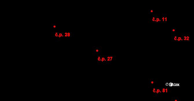 Loukonosy 27, Žiželice na parcele st. 18 v KÚ Loukonosy, Katastrální mapa