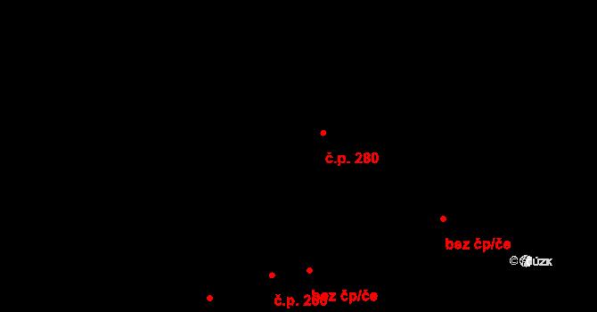 Svádov 280, Ústí nad Labem na parcele st. 767/3 v KÚ Svádov, Katastrální mapa