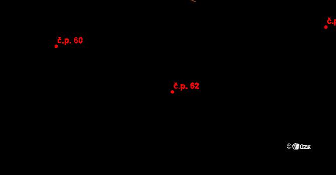 Šlapanice 62 na parcele st. 114 v KÚ Šlapanice v Čechách, Katastrální mapa