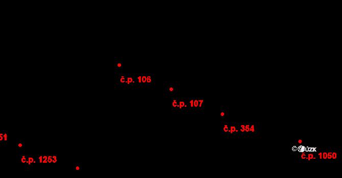 Žižkov 107, Praha na parcele st. 398 v KÚ Žižkov, Katastrální mapa