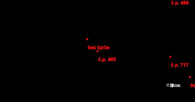 Žamberk 485 na parcele st. 4785 v KÚ Žamberk, Katastrální mapa