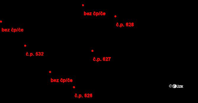 Brno-město 627, Brno na parcele st. 275 v KÚ Město Brno, Katastrální mapa