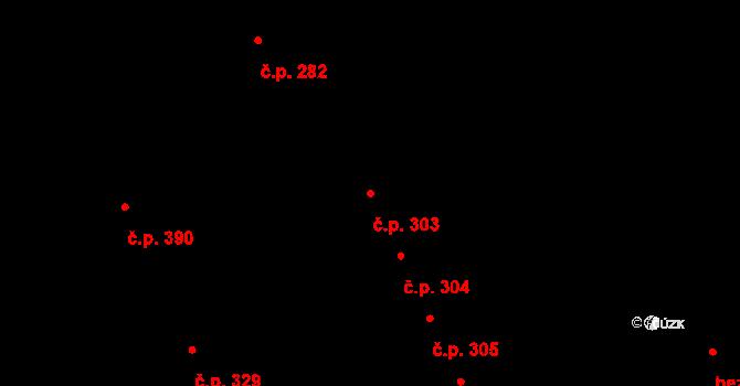 Mladcová 303, Zlín na parcele st. 566 v KÚ Mladcová, Katastrální mapa