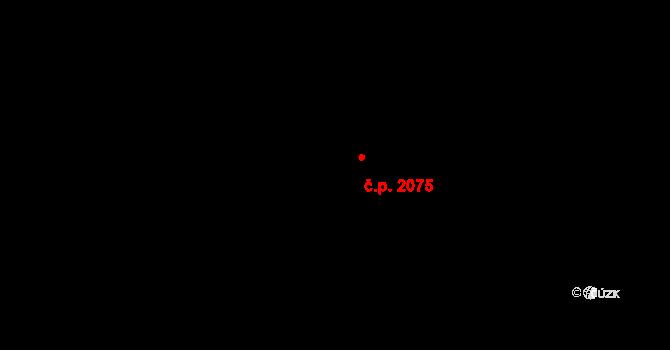 Modřany 2075, Praha na parcele st. 244/25 v KÚ Modřany, Katastrální mapa