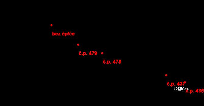 Horní Benešov 478 na parcele st. 959 v KÚ Horní Benešov, Katastrální mapa