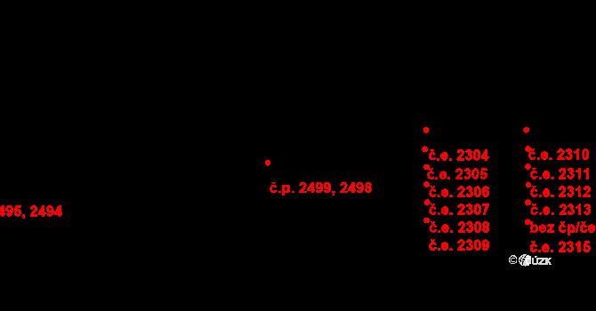 Žatec 2498,2499 na parcele st. 3229 v KÚ Žatec, Katastrální mapa