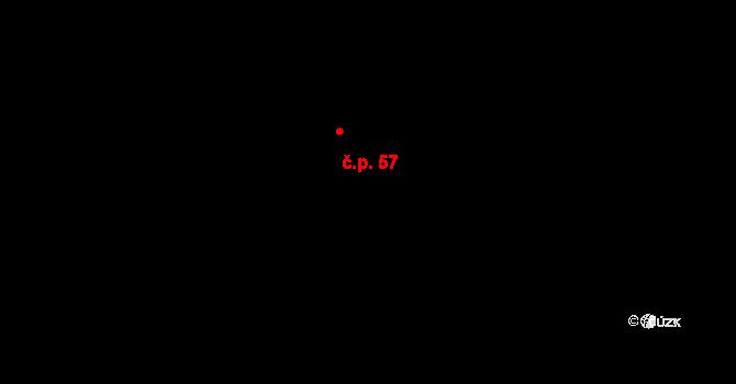 Mlázovy 57, Kolinec na parcele st. 65 v KÚ Mlázovy, Katastrální mapa