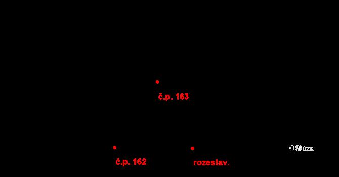 Sedlčánky 163, Čelákovice na parcele st. 520 v KÚ Sedlčánky, Katastrální mapa