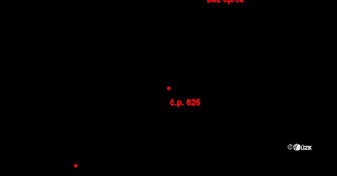 Zlín 625 na parcele st. 4644 v KÚ Zlín, Katastrální mapa