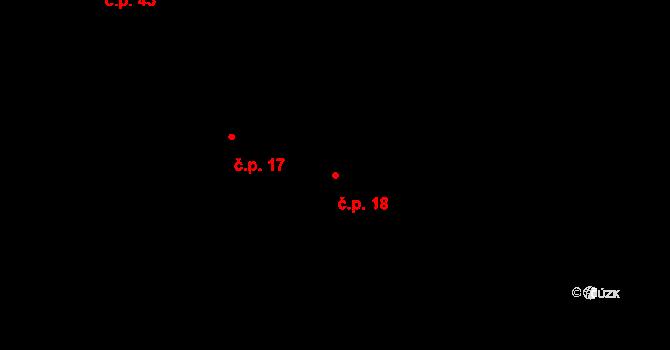 Míchov 18 na parcele st. 12 v KÚ Míchov u Boskovic, Katastrální mapa