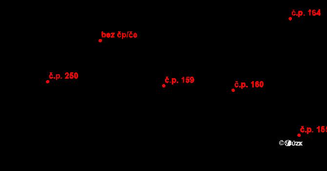 Studánka 159 na parcele st. 213 v KÚ Studánka u Tachova, Katastrální mapa