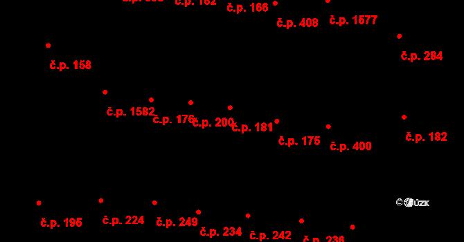 Michle 181, Praha na parcele st. 1080 v KÚ Michle, Katastrální mapa