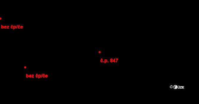 Liberec VI-Rochlice 847, Liberec na parcele st. 1429/311 v KÚ Rochlice u Liberce, Katastrální mapa