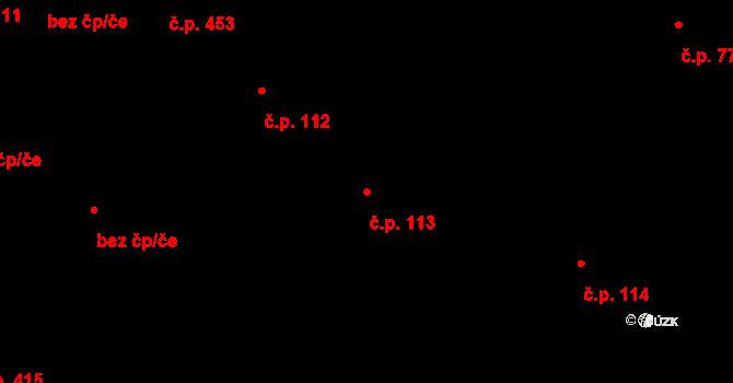 Polešovice 113 na parcele st. 185 v KÚ Polešovice, Katastrální mapa