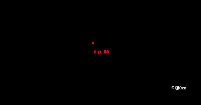 Červená Hora 65 na parcele st. 75 v KÚ Červená Hora, Katastrální mapa