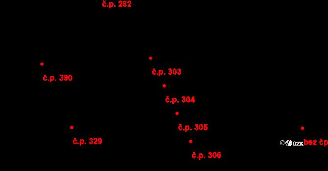 Mladcová 304, Zlín na parcele st. 567 v KÚ Mladcová, Katastrální mapa