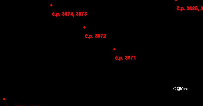 Jihlava 3671 na parcele st. 5468/163 v KÚ Jihlava, Katastrální mapa