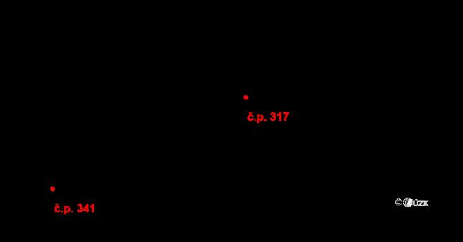Nová Role 317 na parcele st. 1311 v KÚ Nová Role, Katastrální mapa