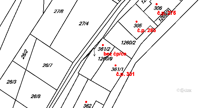 Luka nad Jihlavou 44541414 na parcele st. 361/2 v KÚ Luka nad Jihlavou, Katastrální mapa