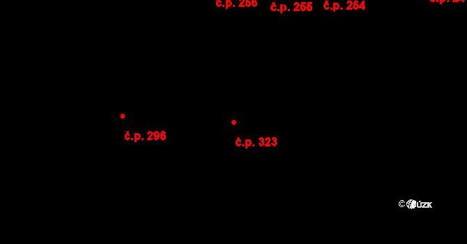 Žirovnice 323 na parcele st. 325 v KÚ Žirovnice, Katastrální mapa