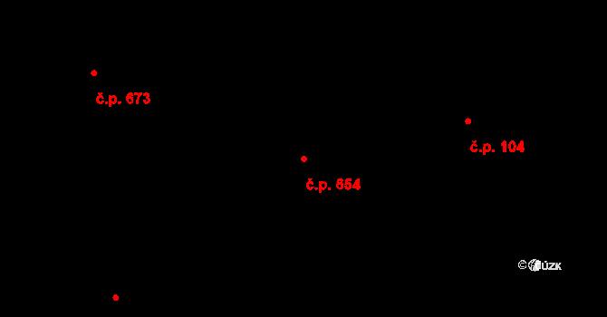 Liberec XXIII-Doubí 654, Liberec na parcele st. 1009/2 v KÚ Doubí u Liberce, Katastrální mapa