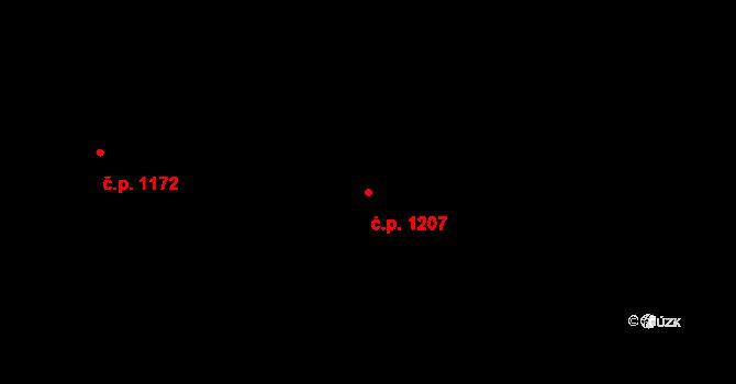 Skvrňany 1207, Plzeň na parcele st. 1538/113 v KÚ Skvrňany, Katastrální mapa
