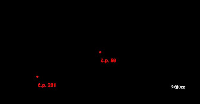 Lípa 59 na parcele st. 366 v KÚ Lípa nad Dřevnicí, Katastrální mapa