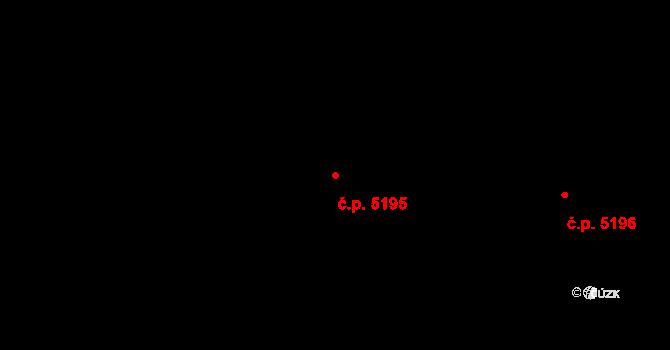 Zlín 5195 na parcele st. 8000 v KÚ Zlín, Katastrální mapa