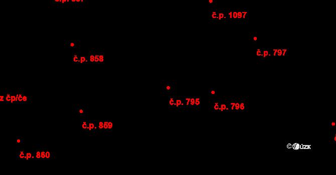 Staré Město 795, Praha na parcele st. 938/1 v KÚ Staré Město, Katastrální mapa