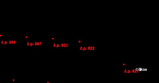 Malá Strana 622, Praha na parcele st. 839/1 v KÚ Malá Strana, Katastrální mapa