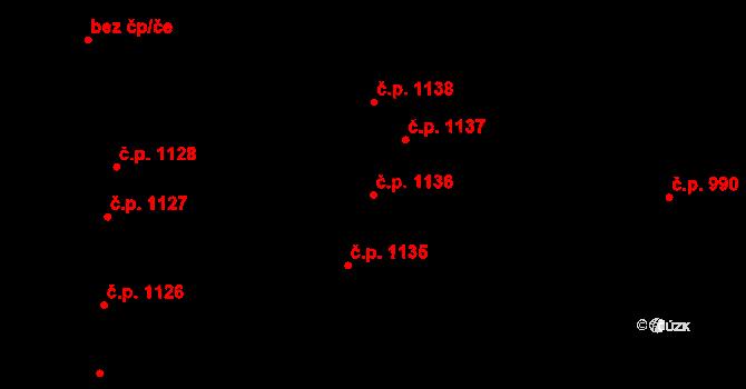 Sedlčany 1136 na parcele st. 1926/223 v KÚ Sedlčany, Katastrální mapa