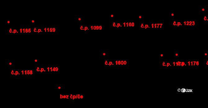 Švermov 1600, Kladno na parcele st. 1127 v KÚ Hnidousy, Katastrální mapa
