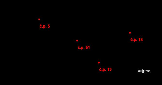 Česká Metuje 51 na parcele st. 65 v KÚ Česká Metuje, Katastrální mapa