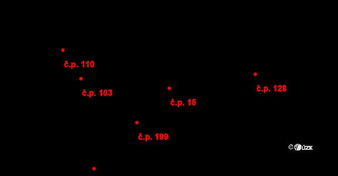 Město Albrechtice 15 na parcele st. 1281 v KÚ Město Albrechtice, Katastrální mapa