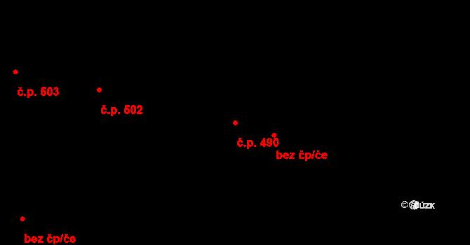 Liboc 490, Praha na parcele st. 943 v KÚ Liboc, Katastrální mapa