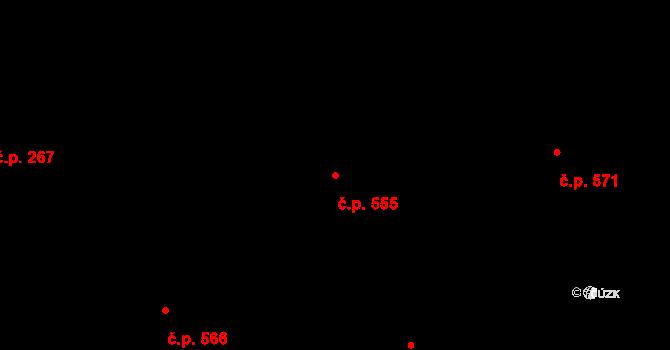 Mladcová 555, Zlín na parcele st. 960 v KÚ Mladcová, Katastrální mapa