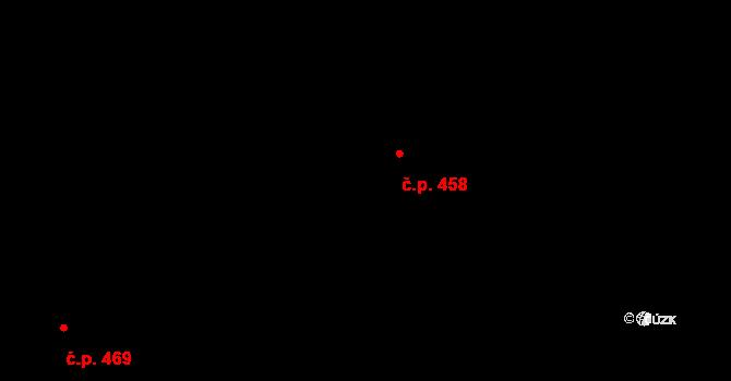 Zličín 458, Praha na parcele st. 668/336 v KÚ Zličín, Katastrální mapa