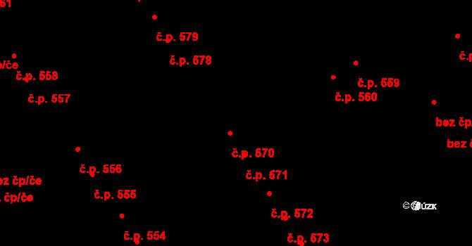 Litomyšl-Město 570, Litomyšl na parcele st. 856 v KÚ Litomyšl, Katastrální mapa