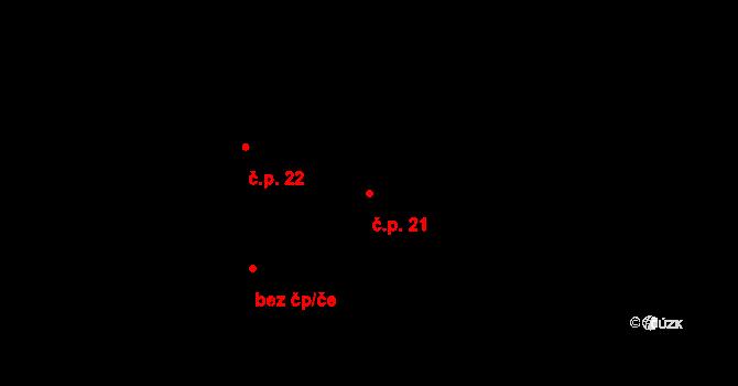 Paseky 21 na parcele st. 26 v KÚ Paseky u Písku, Katastrální mapa