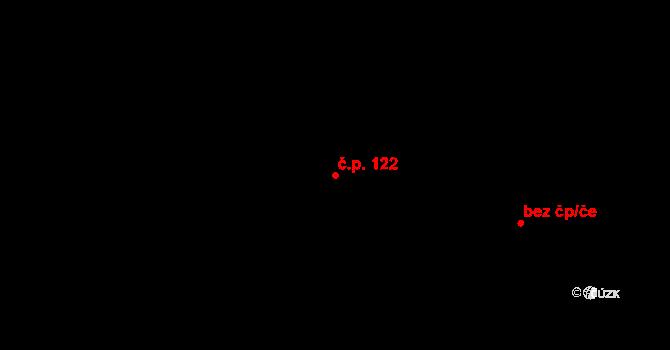Tři Sekery 122 na parcele st. 166 v KÚ Tři Sekery u Kynžvartu, Katastrální mapa